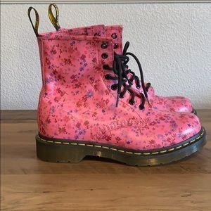 Women's Floral Dr Marten boots.